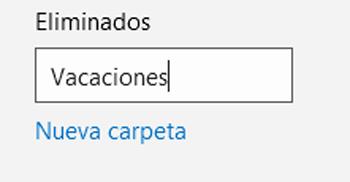 Cómo crear una carpeta en Hotmail