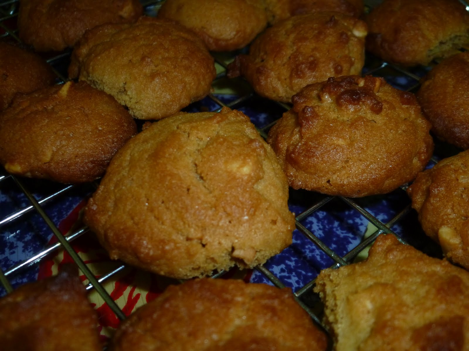 EATING WITH PEBBLES: crunchy peanut butter cookies