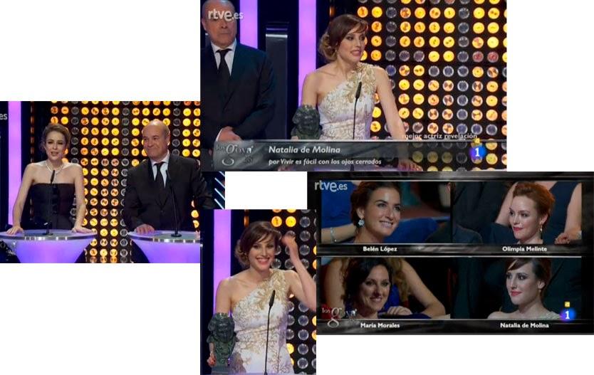 Natalia de Molina, mejor actriz revelación por Vivir es fácil con los ojos cerrados