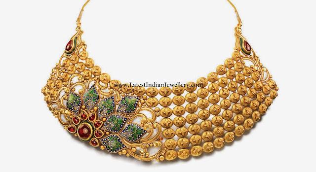 bridal gold choker necklace