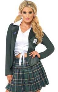 chica disfrazada de colegiala