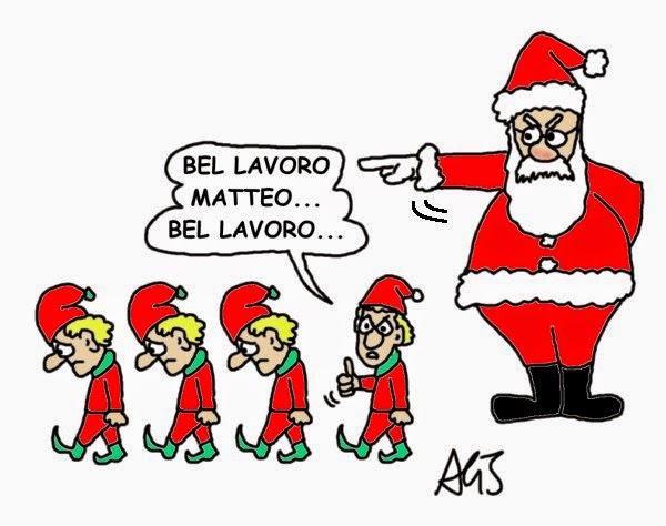 jobs act, Renzi, Natale, articolo18, articolo 18, satira