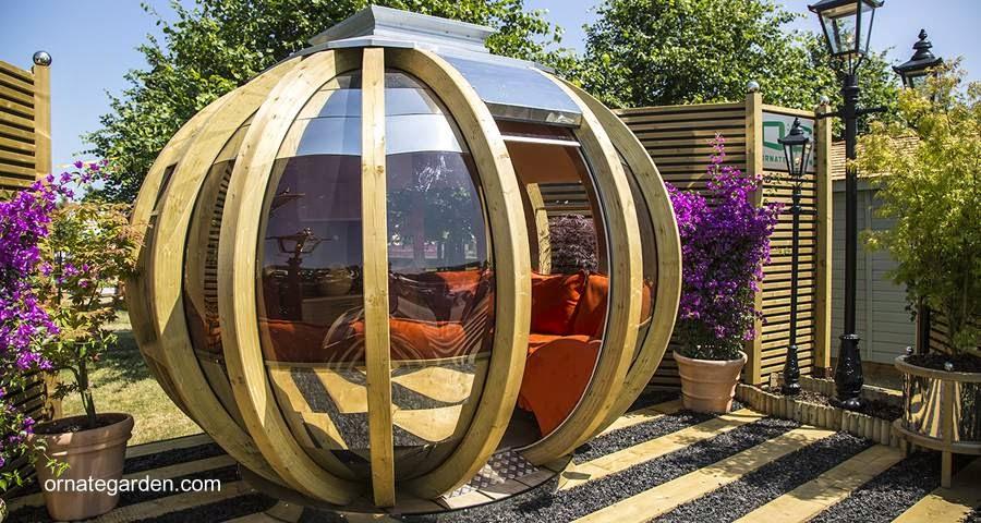 Modelo de lujo de refugio esférico inglés para jardín