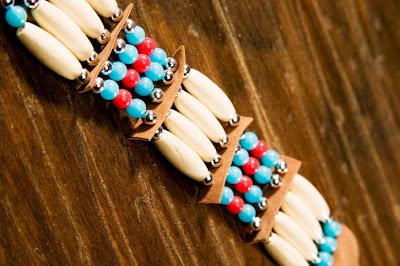 Native American wampum bead design