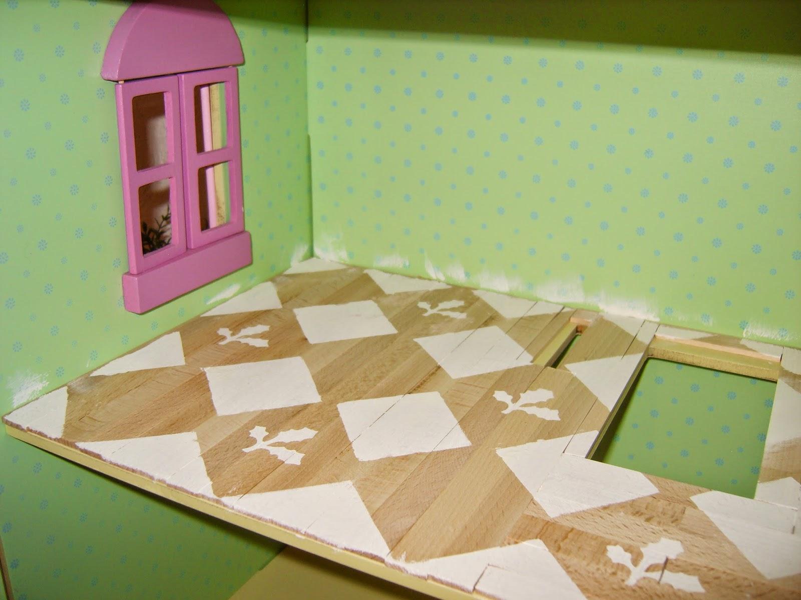 bilteman tikut, maalattu kuvio lattiaan