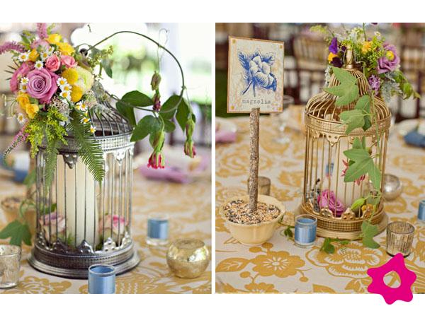 Como usar as gaiolas na decoração de sua festa de casamento