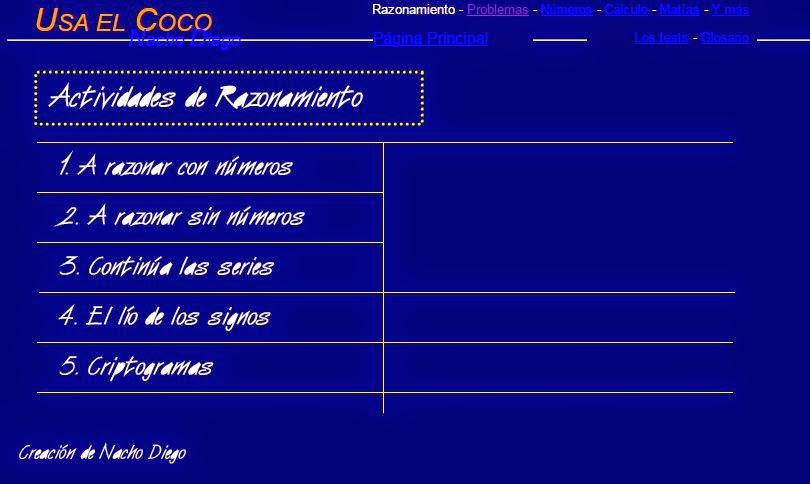 JUEGOS DE RAZONAMIENTO