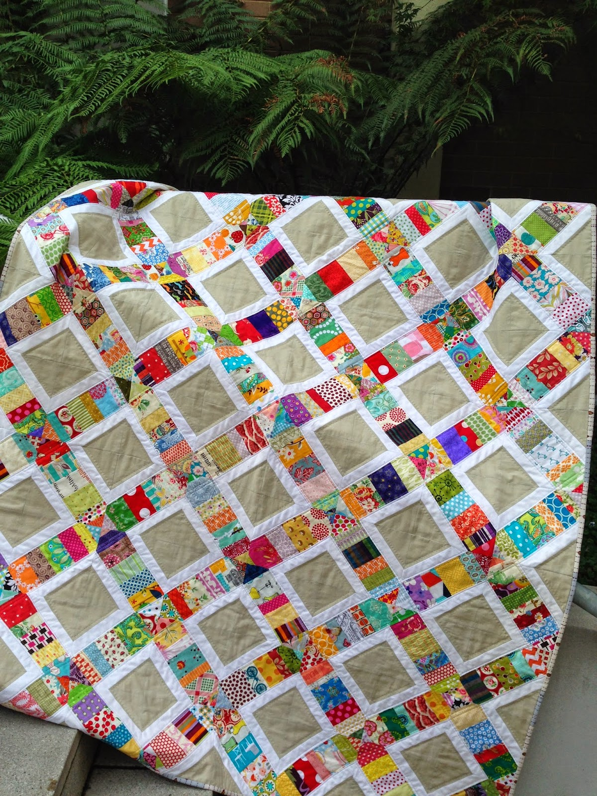 Patchwork n play i didn 39 t want to finish for Scrap quilt