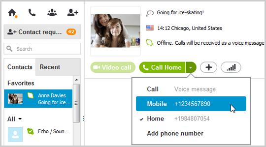 appels skype vers des t l phones fixes et mobiles pour windows bureau telecharger skype. Black Bedroom Furniture Sets. Home Design Ideas