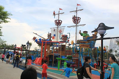 the pirate ship before it was officially opened