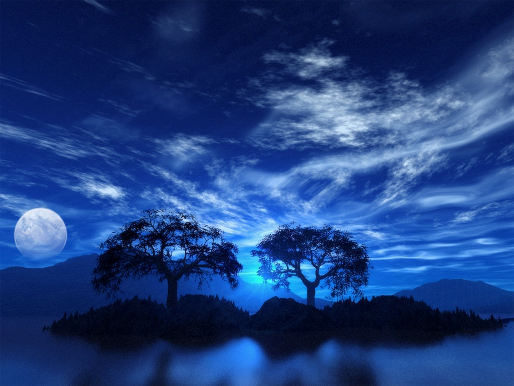 blue night sky background - photo #31