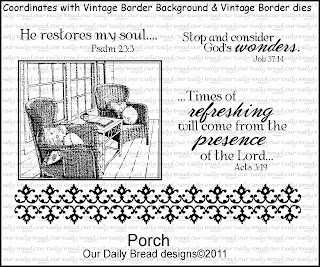Our Daily Bread Designs, Porch