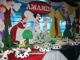Decoracion de Fiestas Infantiles con Dalmatas, parte 1