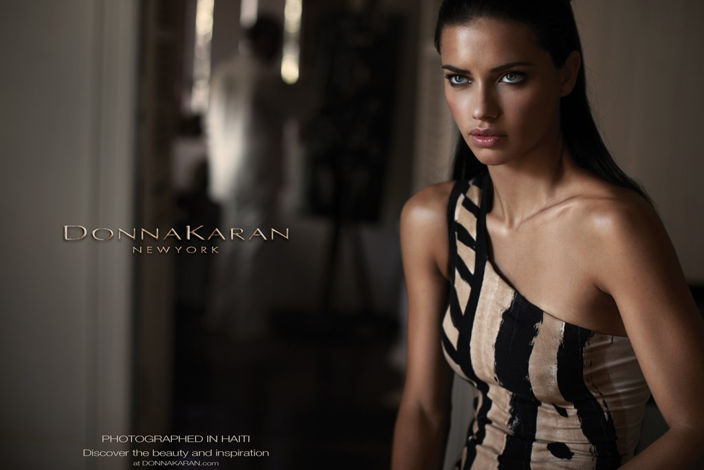 Adriana Lima Hairstyle on Donna Karan Spring 2012 Campaign 6