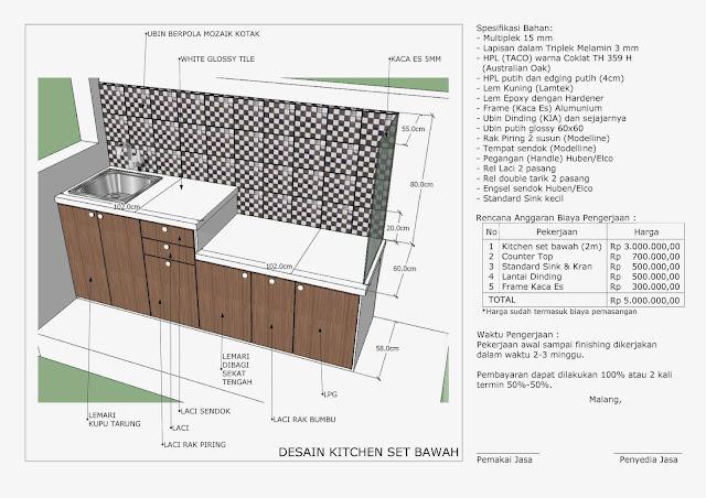 Life of art simple kitchen set bawah for Kitchen set bawah