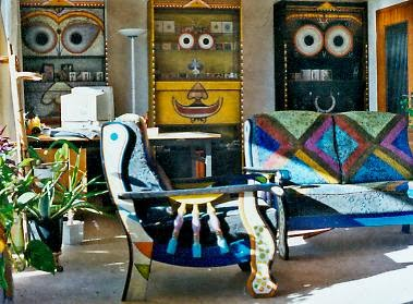 Hand painted furniture by artist Mahirwan Mamtani, Image courtesy artist, Art Scene India