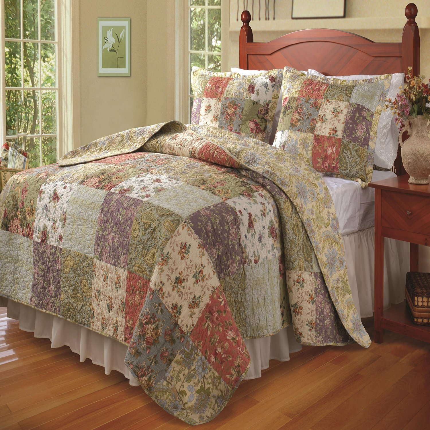 set comforter morning bedding grey home walmartcom plaid bedinabag gray mini comforters rustic mainstays kirkland
