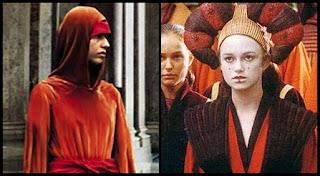 Sofía Coppola como Saché y Keira Knightley como Sabé, Star Wars: La amenaza fantasma