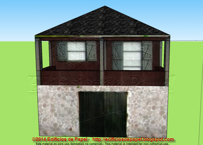 """Barn 2"" paper model"