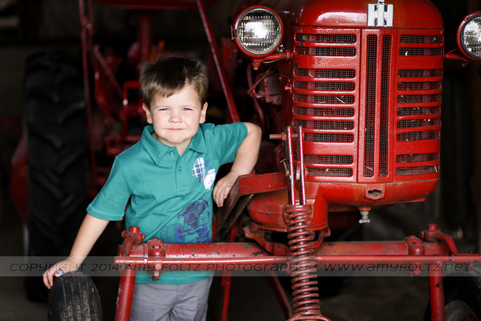 photo of little boy with tractor - Terre Haute photographer
