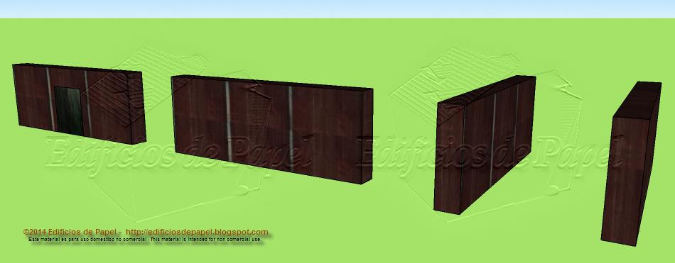 Muros modelo 1521: Maqueta de Papel de Fortificación