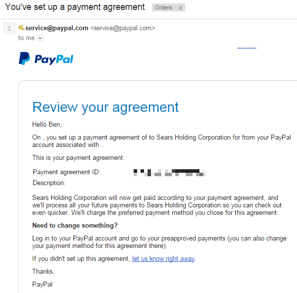 how to delete pre approved payments paypal