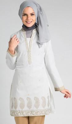 Desain Baju Atasan Muslim Modern dan Trendy