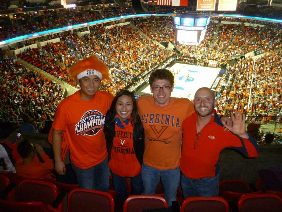 Watching University of Virginia beat Memphis Tigers in Raleigh during the 2014 NCAA March Madness Final Four tournament