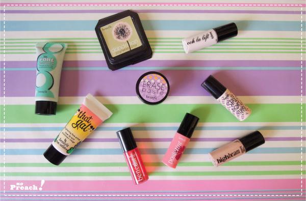kit de maquiagem Benefit - miniaturas - travel size