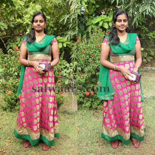 Tamil Actress in Floor Length Salwar