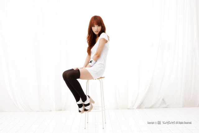 1 Minah in Black and White-Very cute asian girl - girlcute4u.blogspot.com