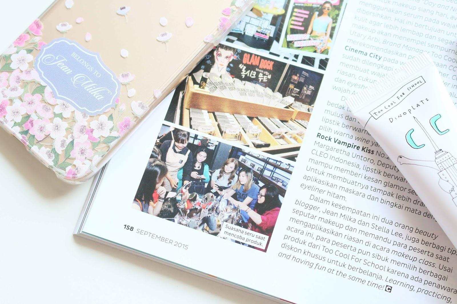 jean milka, cleo, magazine, indonesia, blogger, beauty
