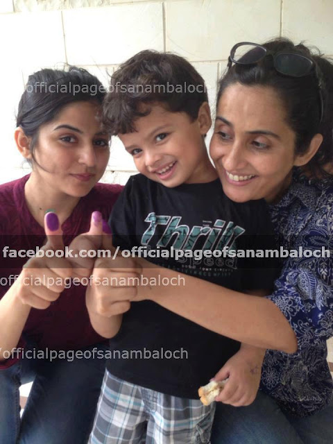 Sanam Baloch - Pakistan Celebrities voted for Pakistan