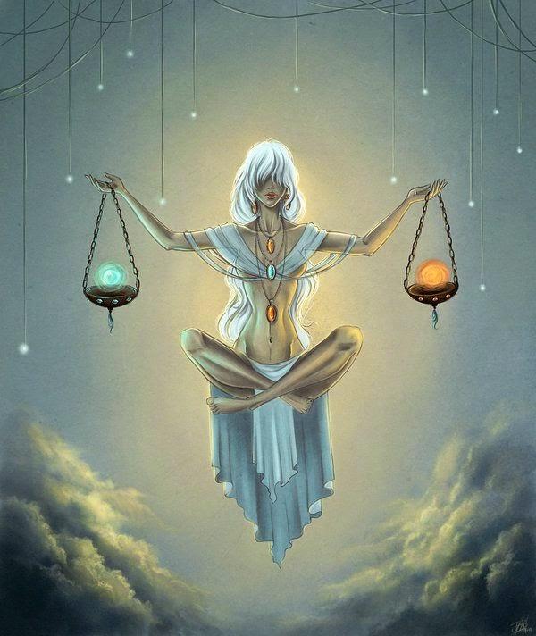 Zodiaco Mujer con el poder del equilibrio, signo Libra