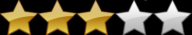 Výsledek obrázku pro three stars rating png
