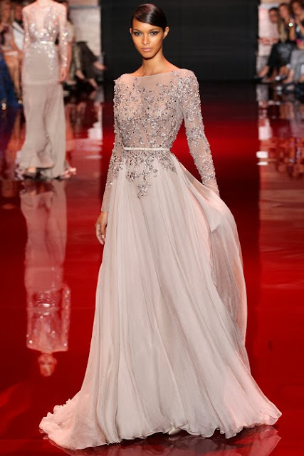Model in Elie Saab haute couture