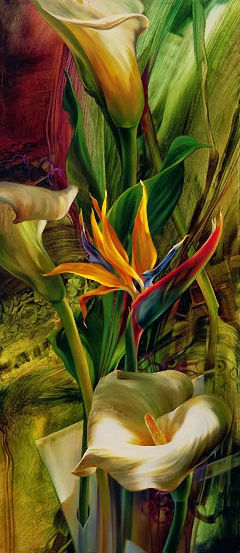 29 Gambar Lukisan Bunga