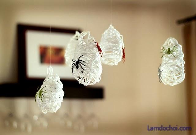 lam do handmade trang trí Halloween