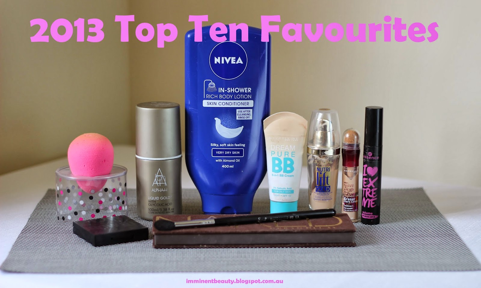 Top 10 Beauty Products, Beauty Blender, Urban Decay, Brow Zings, Benefit, Alpha H, skincare, makeup, mascara, bb cream, loreal, maybelline, sigma