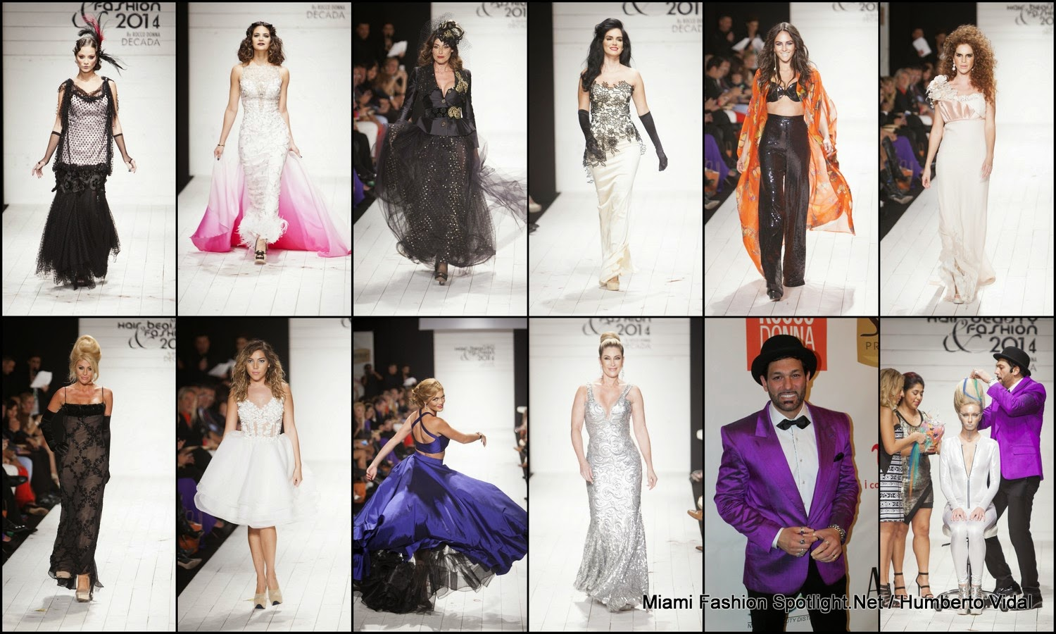 Leonardo Rocco celebrated a decade of the glamorous Miami Hair, Beauty & Fashion event with a look at fashion through the ages