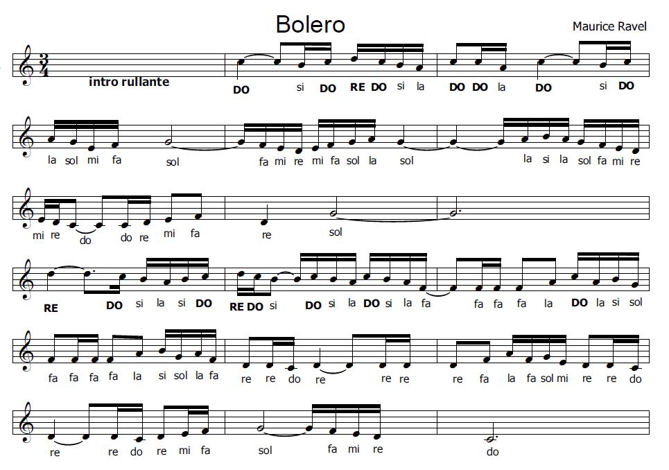 spesso Musica e spartiti gratis per flauto dolce: Bolero XB75