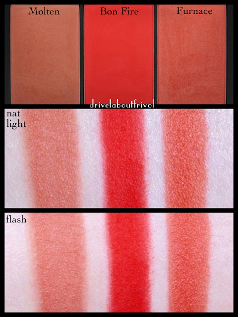 swatch Sleek Blush by 3 trio flame molten bon fire bonfire furnace