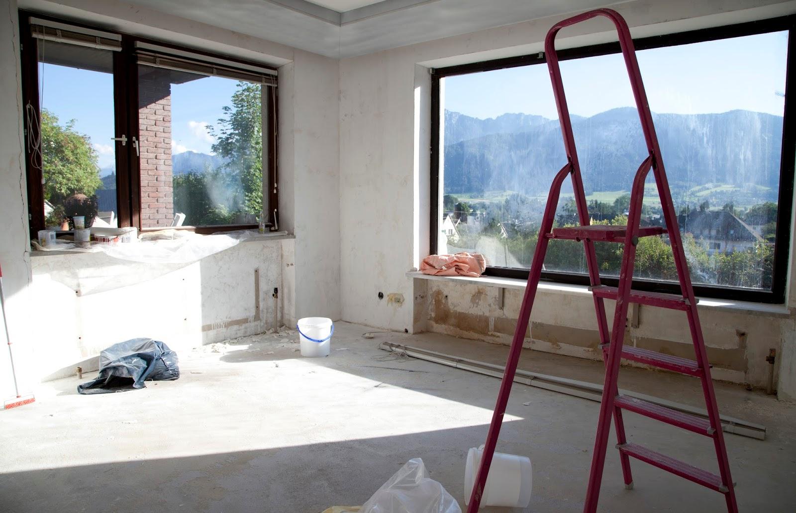 Im Neuen Wohnzimmer Befindet Sich Nämlich Ein Für 70er Jahre Bungalows Ganz  Typisches Riesenfenster, Das Sich Wunderbar Dafür Eignet.