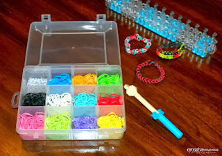 Rainbow Loom Fun & Instructions - storage