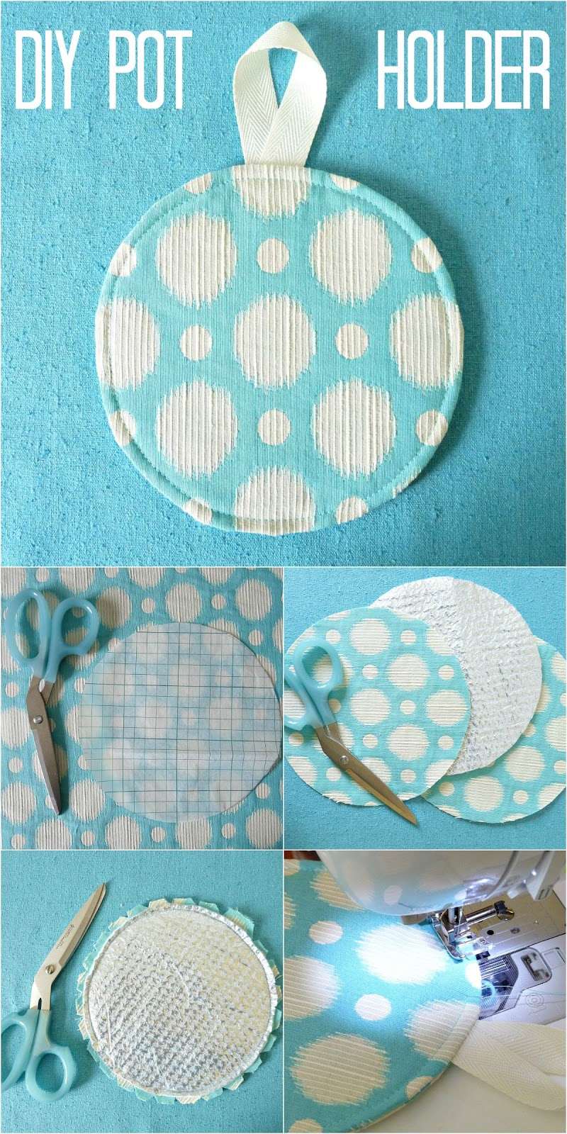 How to make a pot holder with heat shield material
