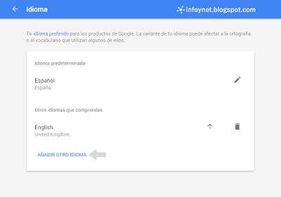 Idioma de una cuenta de Google