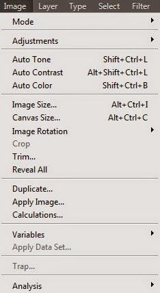 Photoshop CC شرح قائمة صورة Image