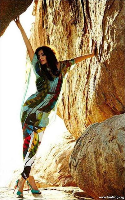 Sonam Kapoor Elle Photoshoot 2012 - Sonam Kapoor Elle Magazine 2012 HQ Pics