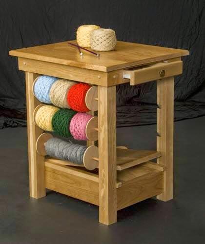 Art lovely idea from knitting crochet tables for Table knitting