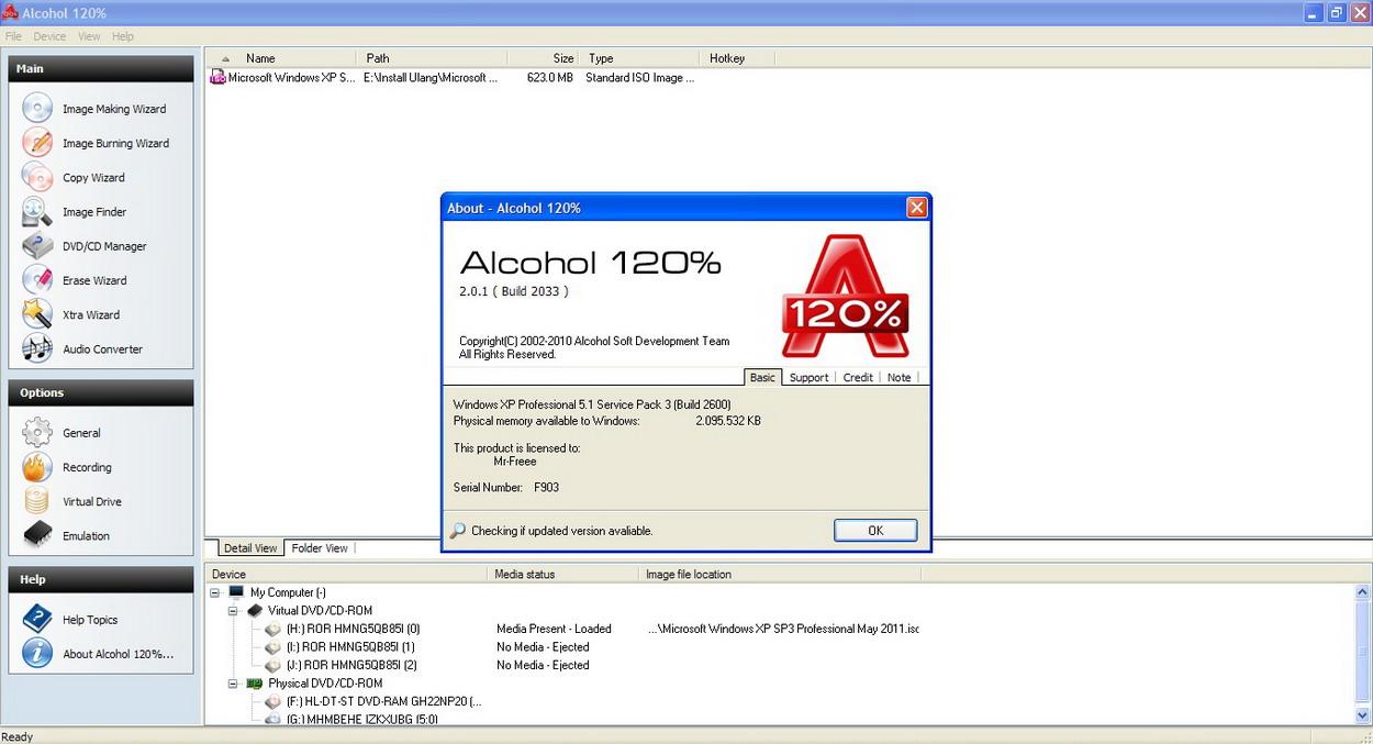 Alcohol 120.7 serial by czw